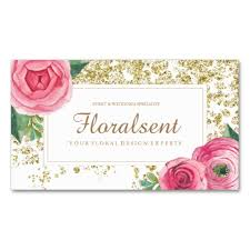 floral business card beautiful watercolour floral business cards ladyprints