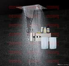 Bath Shower Thermostatic Mixer Bathroom Accessories Shower Set Concealed Panel Stainless Steel