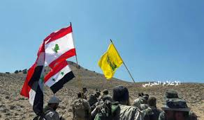 Hezbollah Flag After Deal Is Allowed To Leave Syria Lebanon Border Area New