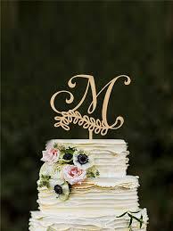 gold letter cake topper monogram m letter cake topper letter m wedding cake topper