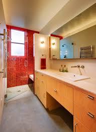 Red Bathroom Cabinets Bathroom 2017 Red Tiles Bathroom Wall Outside Glass Door Large