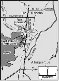 Albuquerque New Mexico Map by Paleoearthquake Recurrence On The East Paradise Fault Zone