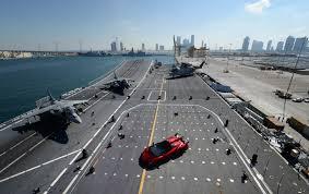 Lamborghini Veneno Matte Black - veneno roadster presented on aircraft carrier nave cavour