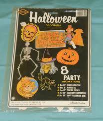 vintage beistle halloween decorama novo lacrado esqueleto