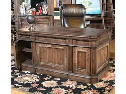 Bedroom Furniture With Hidden Compartments Parker House Aria Library Double Pedestal Executive Desk With 6