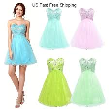amazing us pink short girls homecoming ball cocktail gown prom