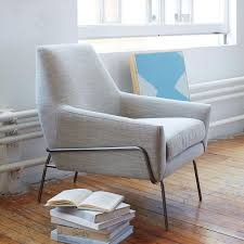 Armchair With Storage Lucas Wire Base Chair West Elm
