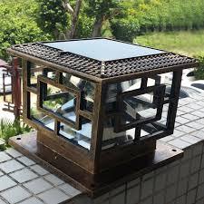 cheap led garden lights new arrival solar pillar l outdoor super bright led solar pillar
