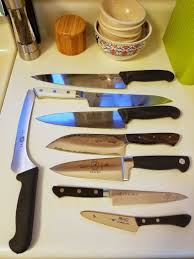 my kitchen knives here is my collection of kitchen knives