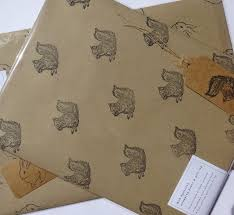 squirrel wrapping paper eco gift wrap