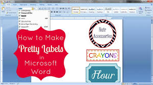 Printable Labels How To Make Pretty Labels In Microsoft Word