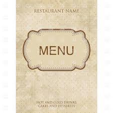 vintage style restaurant or cafe menu design with fancy frame