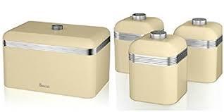 retro canisters kitchen swan 2 retro kitchen accessories set retro bread bin and 3