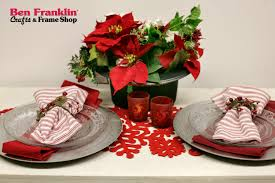 Christmas Table Setting Ideas by Ben Franklin Crafts And Frame Shop Festive Christmas Table