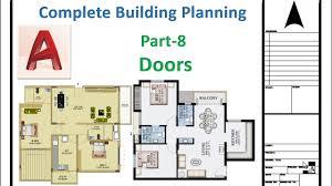 building plan autocad 2017 complete building planning part 8 doors youtube