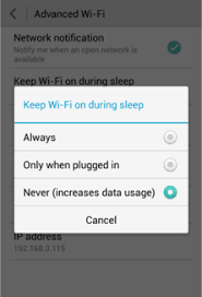 android sleep mode how to set the wi fi sleep policy of your android device