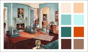 Armstrong Living Room Turquoise Orange Color Scheme - Color palette living room