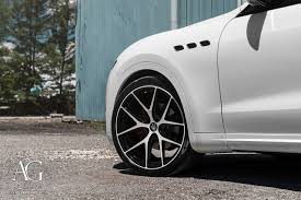 white maserati ag luxury wheels maserati levante forged wheels