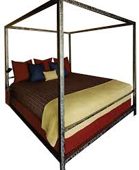 minimalist four poster bed perry luxe
