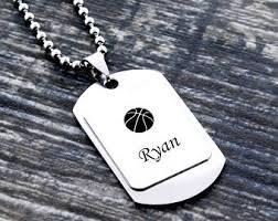 personalized basketball necklace basketball jewelry etsy