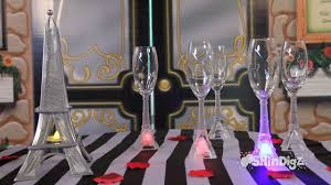 party supplies glassware led eiffel tower flutes shindigz