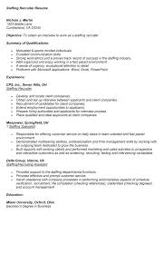 Business Resume Objective Examples Resume Example 57 Recruiter Resume Sample Recruiter Resume Sample