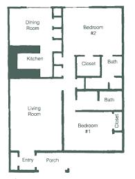 2 Bedroom Floor Plans Floor Plans