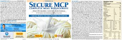 secure marine collagen peptides complete meal replacement