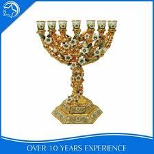 7 candle menorah antique gold metal tree 7 arm candle holder menorah buy