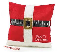 home design down pillow amazon com days til christmas countdown throw pillow with santa