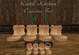 rustic kitchen canister sets second marketplace sn rustic kitchen canister set boxed
