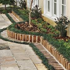 design a brick border for a garden courtyard bricks gardens and