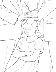 baptism catholic coloring pages printables infant mintreet