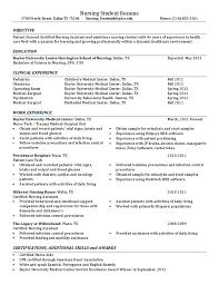 Nursing Student Resume Example by Nursing Student Resume Baylor University Free Download