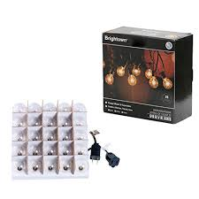 Edison Bulb Patio String Lights G40 String Lights With 25 Globe Bulbs Ul Listed For Indoor Outdoor