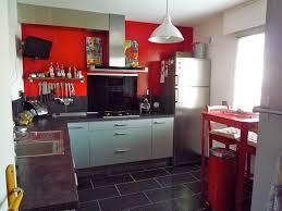 Cuisine Rouge Et Grise by Indogate Com Cuisine Blanc Mur Gris