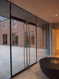 Framless Glass Doors by Stockbridge Hampshire Architectural Glass Clear Living