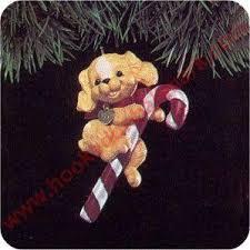 1991 hallmark puppy love cocker spaniel christmas ornament at