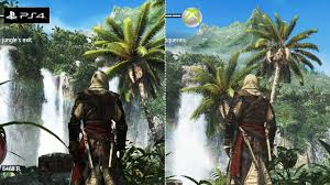 Photo Flag Assassin U0027s Creed 4 Black Flag Grafik Vergleich Ps4 Vs Xbox