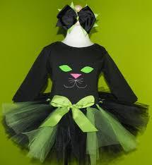 Green Tutu Halloween Costume Girls Black Kitty Cat Face Halloween Costume Quick Ship Tutu