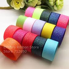 grosgrain ribbons free shipping 7 8 22mm solid sparkle grosgrain ribbon sparkle