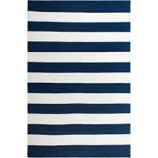 Striped Indoor Outdoor Rugs by Blue And White Stripe Rug Roselawnlutheran