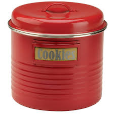 Large Kitchen Canisters Kitchen Canister Red Large Vintage Style Kitchen Jars