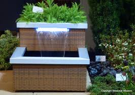 wicker steel contemporary outdoor water fountains contemporary