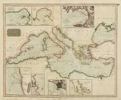 marseilles map chart of the mediterranean sea marseilles genoa gibraltar oceans