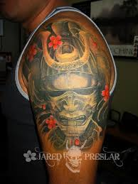 lucky bamboo tattoo tattoos body part arm samurai mask