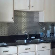 white kitchen cabinets with stainless steel backsplash stainless steel tile pictures subway tile outlet