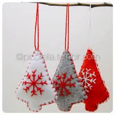 set of 3 tree ornament felt ornament