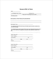 general bill of sale u2013 10 free sample example format download