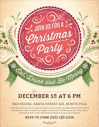 21 christmas party invitation templates free psd vector ai